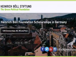 Heinrich Böll Foundation Scholarships in Germany 2020