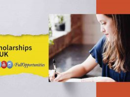 University of Edinburgh Scholarship in UK 2020