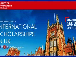 Vice Chancellor's International Scholarships in UK 2020