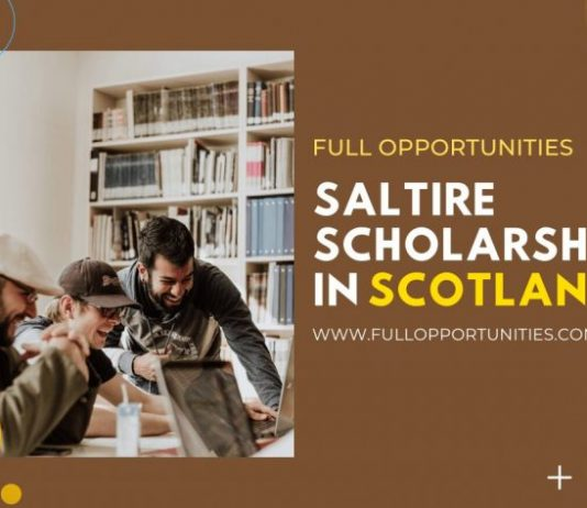 Saltire Scholarships in Scotland 2020