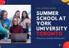 Summer School at York University Toronto
