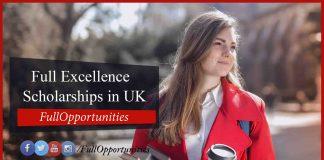 Full Excellence Scholarships in UK
