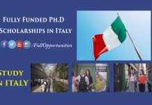 Fully Funded Ph.D Scholarships in Italy
