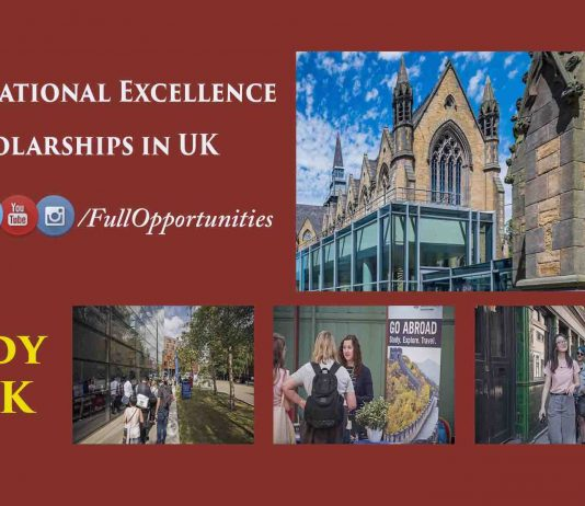 International Excellence Scholarships in UK