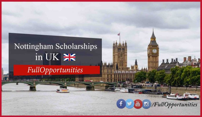 Nottingham Scholarships In UK