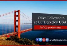 Olive Fellowship at UC Berkeley USA 2020 - Fully Funded