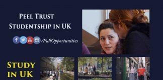 Peel Trust Studentship in UK