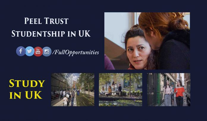 Peel Trust Studentship in UK
