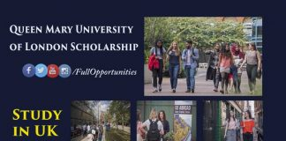 Queen Mary University of London Scholarship