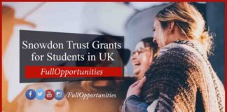 Snowdon Trust Grants for Students in UK