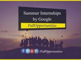 Summer Internships by Google