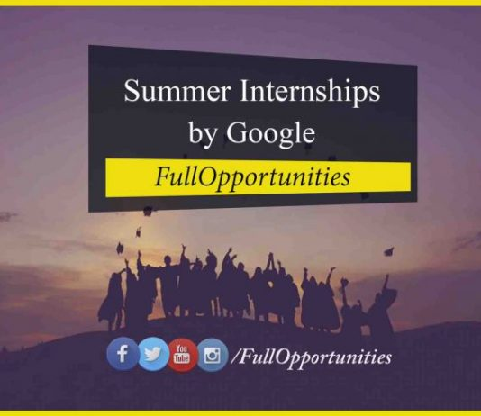Summer Internships by Google