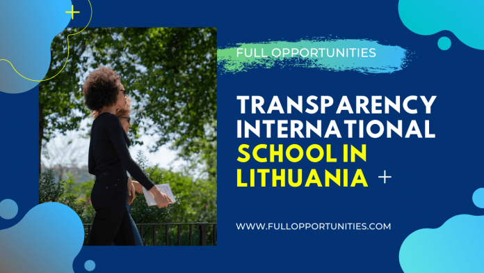 Transparency International School in Lithuania 2020