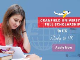Cranfield University Full Tuition Fee Scholarship in UK