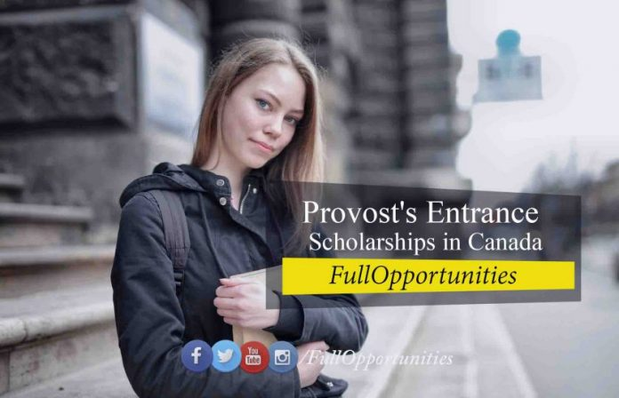 Provost's Entrance International Scholarship