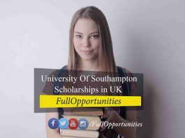 University Of Southampton Scholarship