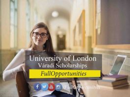 University of London Váradi Scholarships