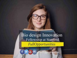 Bio design Innovation Fellowship at Stanford