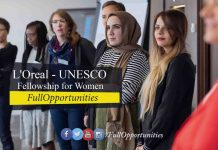 L'Oreal - UNESCO Fellowship for Women in Science