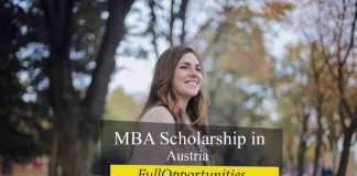 MBA Scholarship in Austria