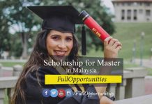 Scholarship for Master in Malaysia