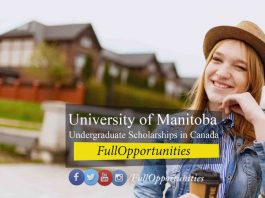 University of Manitoba Undergraduate Scholarships in Canada