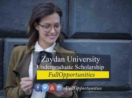 Zaydan University Undergraduate Scholarship UAE