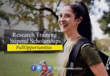 Research Training Program Stipend Scholarships