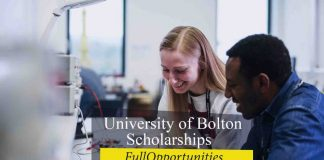 University of Bolton Excellence Scholarship