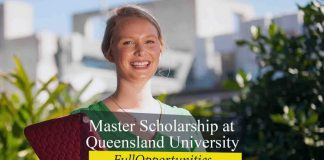 Master Scholarship at Queensland University