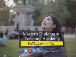 Master's Diploma at Yenching Academy