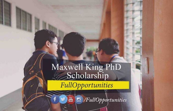Maxwell King PhD Scholarship