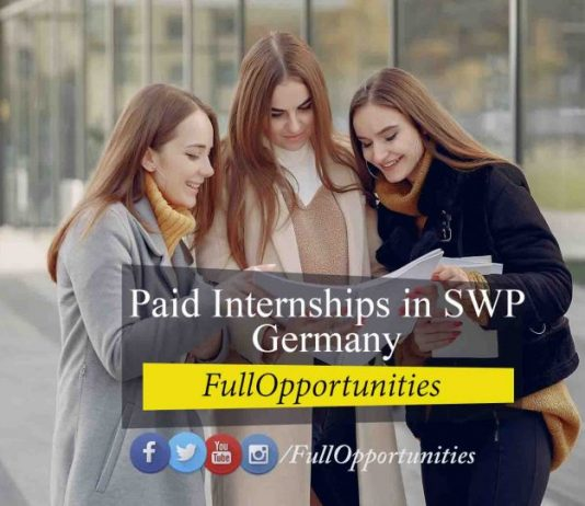 Paid Internships in SWP Germany 2021