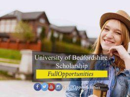 University of Bedfordshire Scholarship