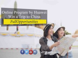 Online Program by Huawei - Win a Trip to China