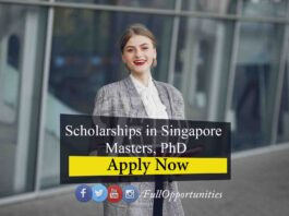 Scholarships in Singapore 2021 for Masters and Ph.D