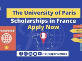 The University of Paris Scholarship 2021 - Apply Now